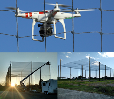 UAV ENCLOSURES DRONE NETTING