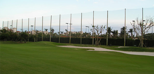 Golf Course Netting Installation by GRN