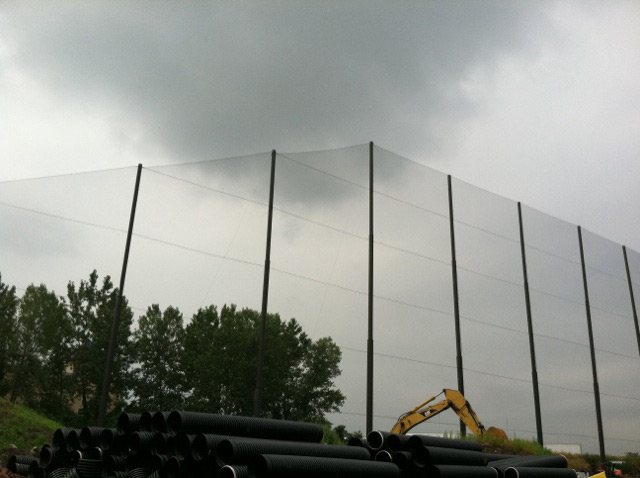 Tiered Golf Netting Install
