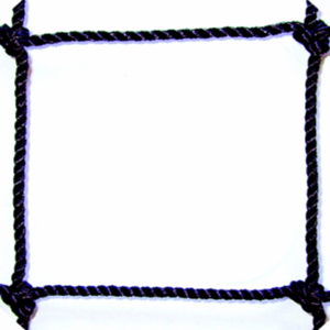 #21 1 3/4 SQUARE MESH BLACK BONDED KNOTTED NYLON
