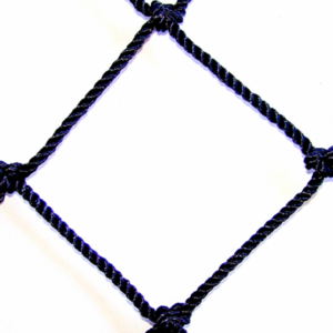 #36 1 3/4 DIAMOND MESH BLACK BONDED KNOTTED NYLON