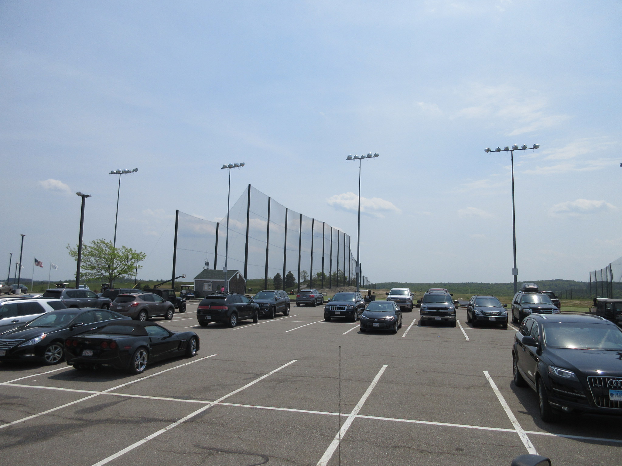 View of the Golf Netting from the parking lot
