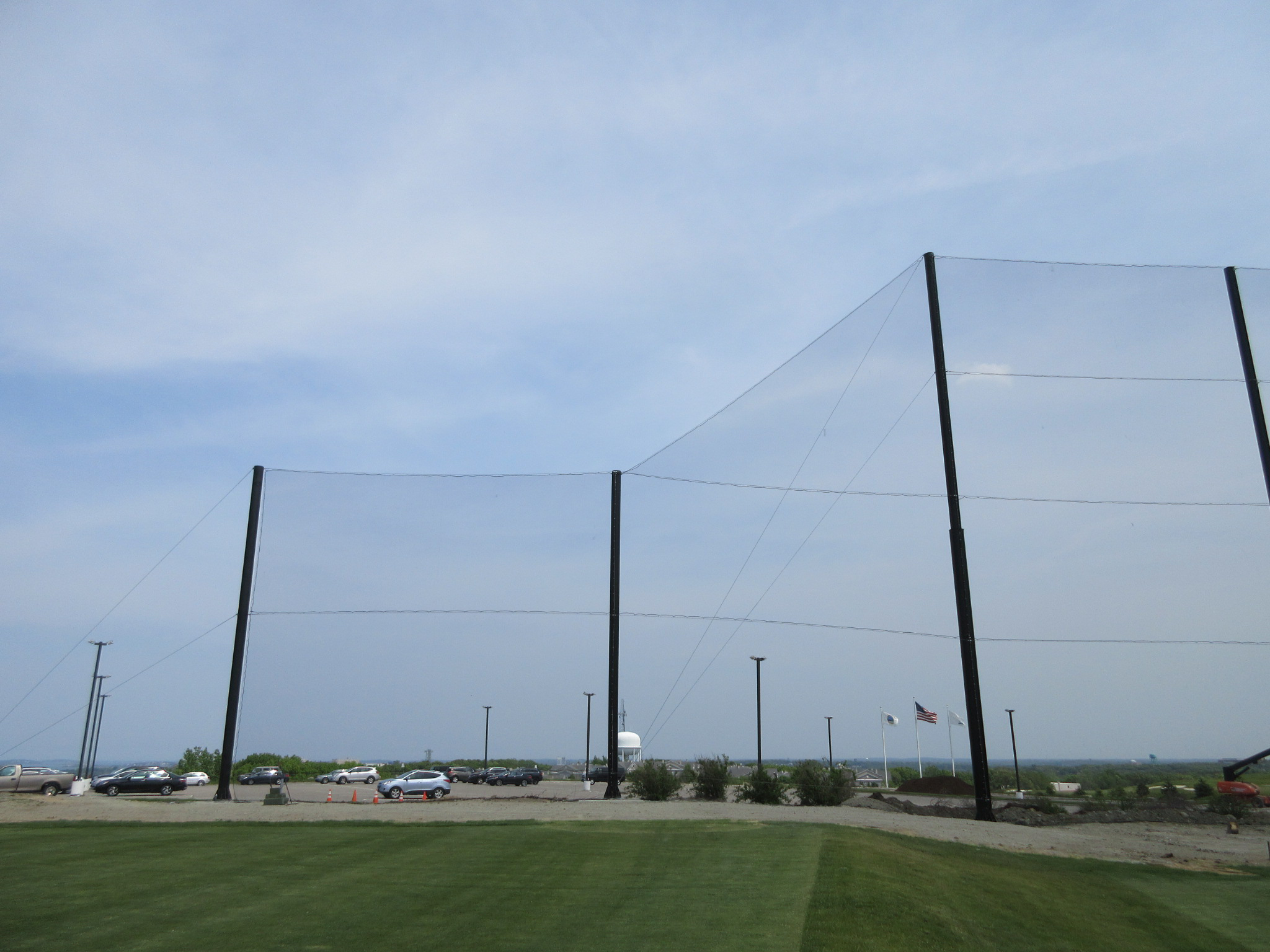 Golf Driving Range Netting Installation